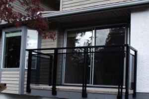 Before and After Aluminum Glass Railings