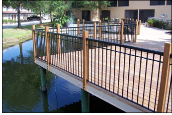 Cedar and aluminum railings