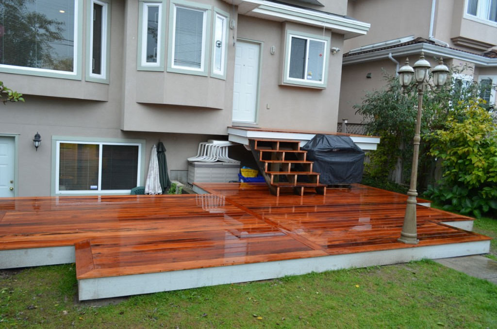 deck construction, multi level