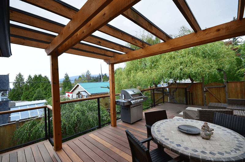 Building a roof over your deck arbutus sundecks for Sundecks designs