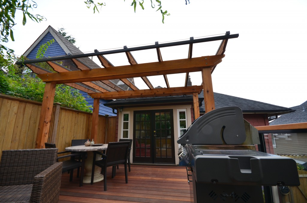 Cedar and Glass Canopy