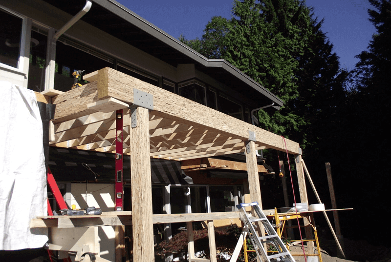 build a roof over your deck
